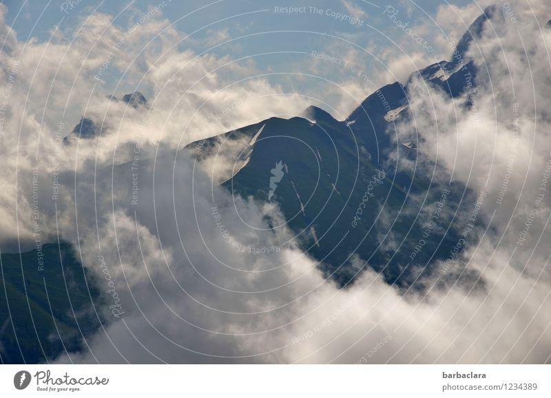 Ringelrein | der Wolken Himmel Natur Ferien & Urlaub & Reisen blau weiß Landschaft Ferne Berge u. Gebirge wandern Erde Luft hoch Klima Gipfel Urelemente