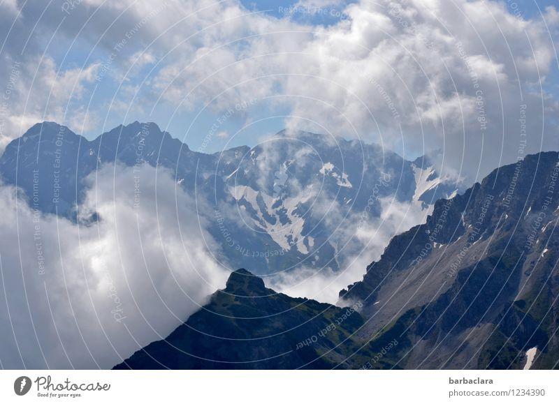 prima Klima | Bergluft Himmel Natur Ferien & Urlaub & Reisen blau Landschaft Wolken Ferne Berge u. Gebirge Umwelt kalt Freiheit Stimmung Wetter Luft Erde frisch