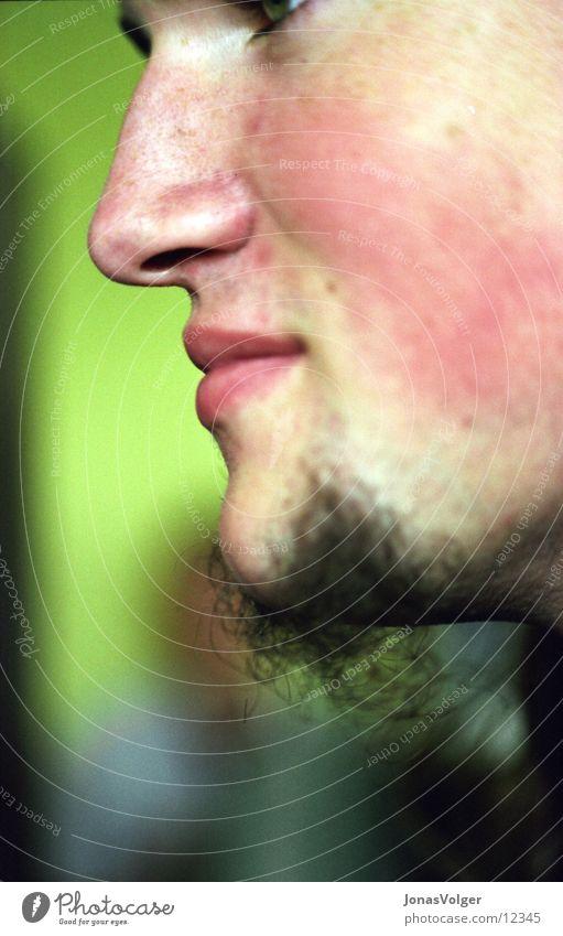 Blick ohne Augen Mann rot Gesicht Nase Kochen & Garen & Backen Bart grinsen Kinn Gesichtsausdruck
