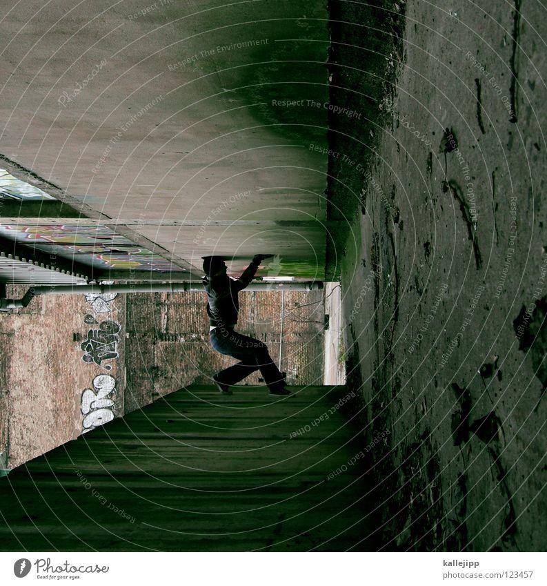 ohne moos nix los Mensch Himmel Mann Hand Stadt Haus Fenster Berge u. Gebirge Gefühle Architektur springen See Lampe Luft Linie Tanzen