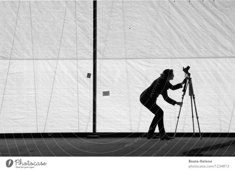 (ge)Sucht | ist der richtige Blickwinkel Fotografieren Beruf Dienstleistungsgewerbe Gebäude Mauer Wand Stativ Fotokamera Arbeit & Erwerbstätigkeit wählen
