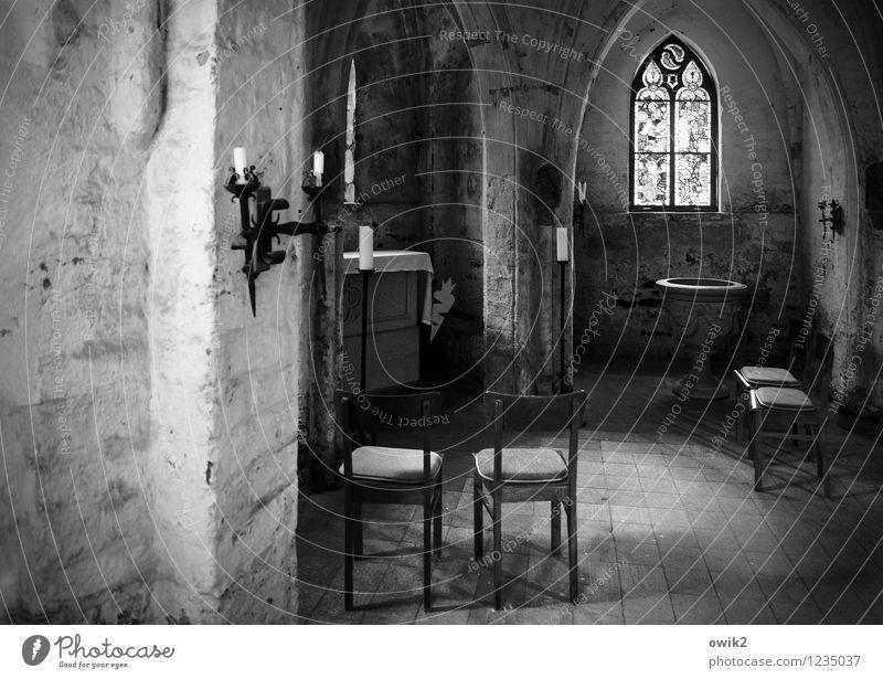 Andacht Kirche Bauwerk Gebäude Architektur Gotteshäuser Stuhl Kapelle Leuchter Kirchenfenster Taufbecken Altar Religion & Glaube ruhig Herzberg Deutschland
