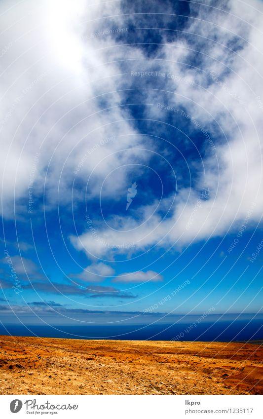 Himmel Natur Ferien & Urlaub & Reisen alt Farbe Sommer rot Landschaft Wolken Berge u. Gebirge Küste Stein Linie Sand Felsen dreckig
