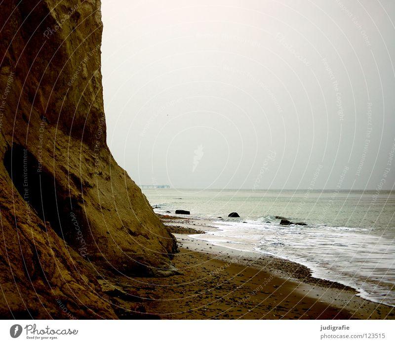 Ahrenshoop Natur Wasser Himmel Meer Winter Strand Ferien & Urlaub & Reisen Farbe kalt Erholung grau Stein Sand Küste Umwelt Horizont