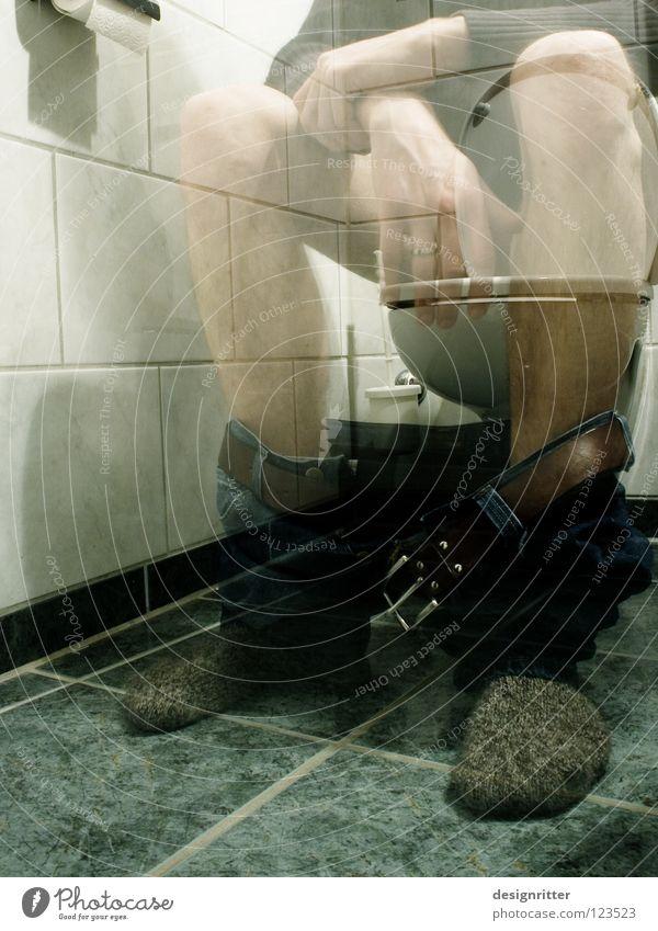 Stille Minute Bad privat offen Privatsphäre Rückzug ruhig Einsamkeit Toilette Stuhlgang Ladengeschäft Keramik Zeit temporär durchsichtig Frieden