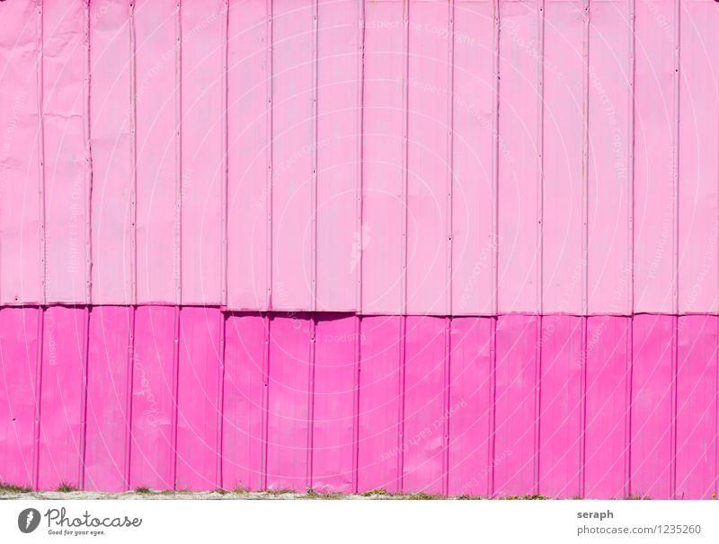 """Rosa Wand Material Metall Mauer Detailaufnahme rosa paneling Hintergrundbild Konsistenz Strukturen & Formen Muster Linie abstrakt Oberfläche """"""""sheet metal"""""""""""