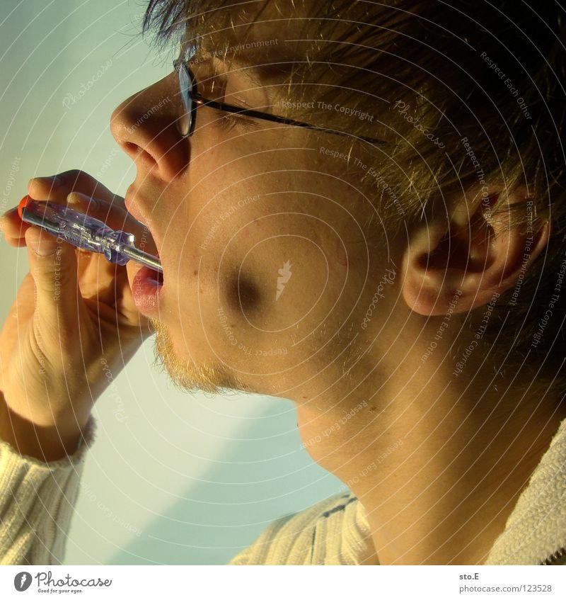 biological reparations pt.4 Mensch Hand Farbe Gesicht klein Lampe Beleuchtung Arbeit & Erwerbstätigkeit Hintergrundbild Haut Mund Finger Falte nah Verkehrswege