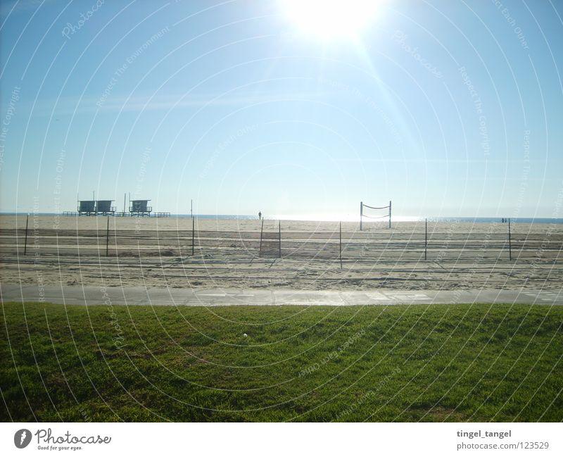 Venice Beach Sonne Strand Schönes Wetter Blauer Himmel Dezember Kalifornien Los Angeles