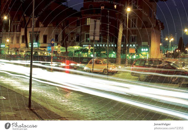 Verkehr Nacht Stadt Fototechnik Licht Farbe PKW