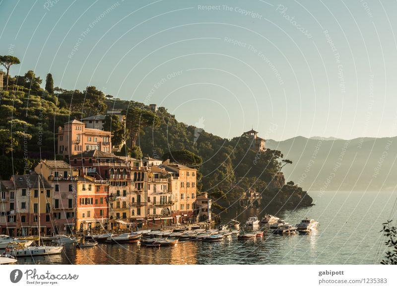 Portofino Ferien & Urlaub & Reisen Sommer Wasser Meer Landschaft Küste Lifestyle träumen Tourismus Idylle Lebensfreude Europa Italien Abenteuer Hügel Bucht