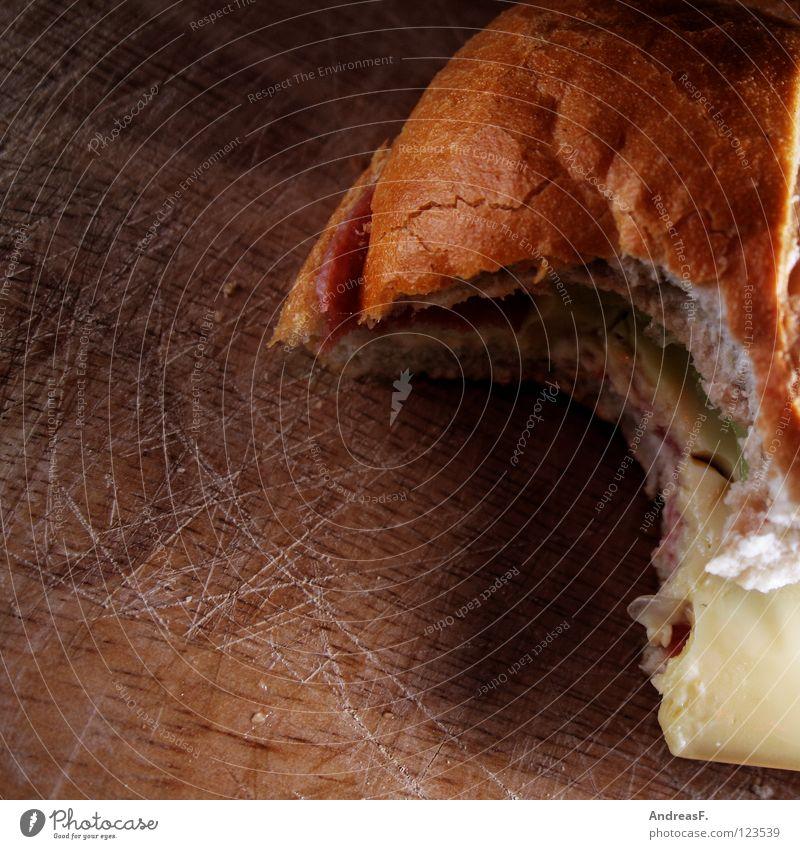 Käse-Wurst-Semmel Lebensmittel Mund frisch Ernährung Pause Küche Gebiss Gastronomie Appetit & Hunger Frühstück Brot Brötchen Mahlzeit Schneidebrett Wurstwaren