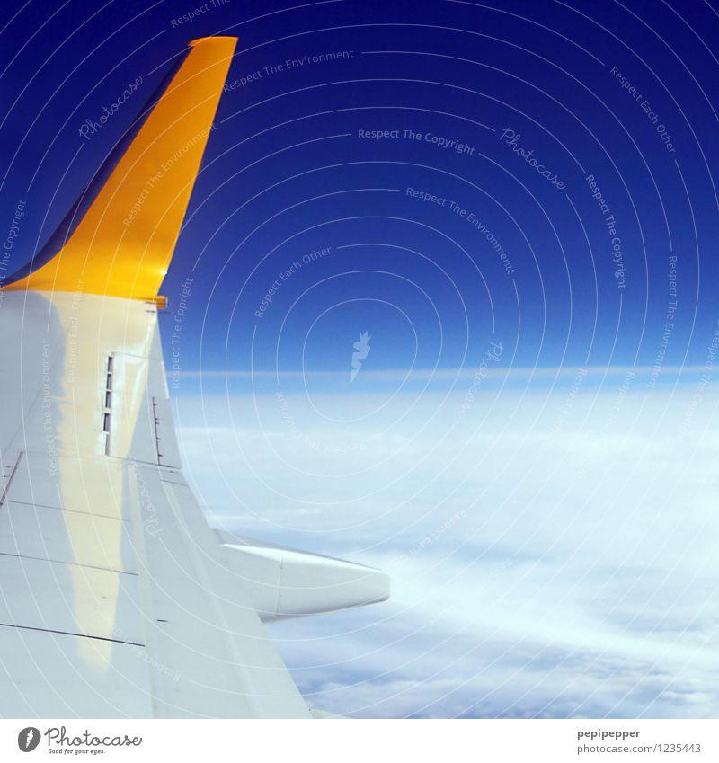 ab in den urlaub Freizeit & Hobby Ferien & Urlaub & Reisen Tourismus Ausflug Ferne Freiheit Sommerurlaub Himmel Wolkenloser Himmel Luftverkehr Flugzeug