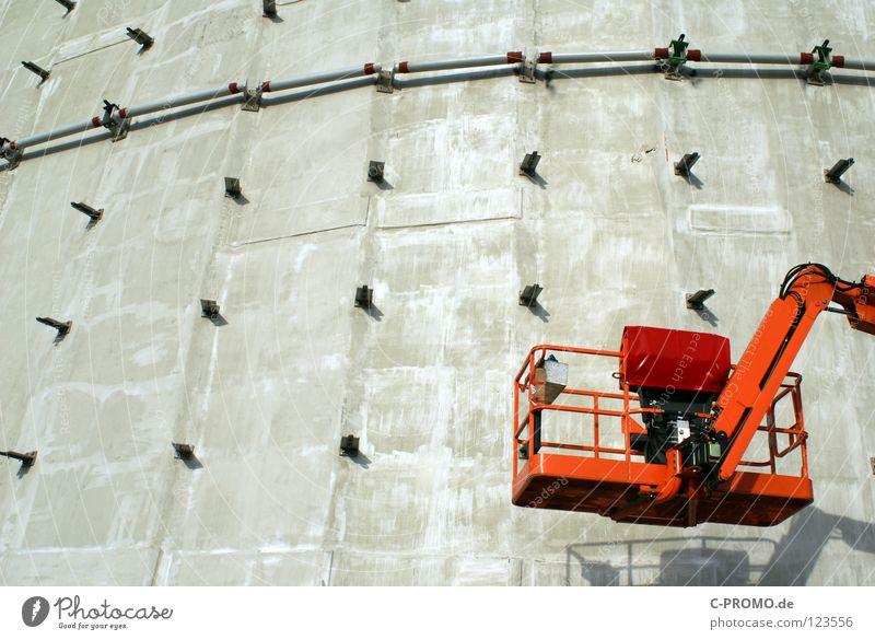 Baupause Beton Fassade modern Pause Baustelle Arbeiter Stahl Handwerk Einkommen Messe Fahrstuhl Bauarbeiter Ausstellung Streik Gewerkschaft Hochbau