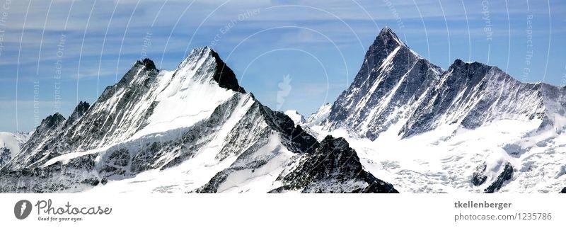 Berggipfel Umwelt Natur Landschaft wandern ästhetisch authentisch gigantisch groß Unendlichkeit ruhig Tourismus Berge u. Gebirge Berghang Alpen Klimawandel