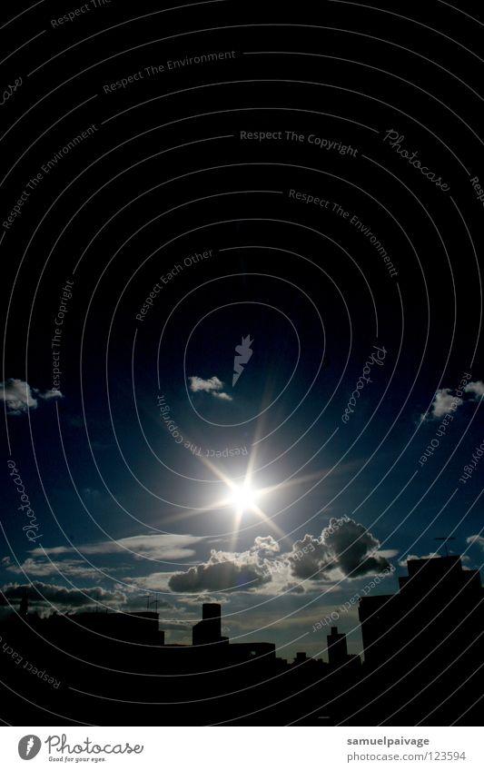 Sunshine Himmel Sonne Stadt Sommer Wolken glänzend