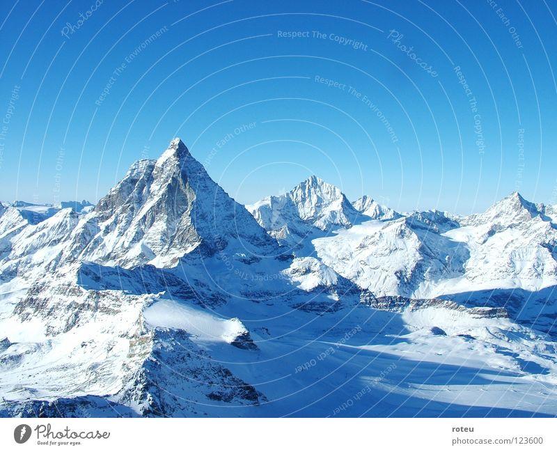 Matterhorn Berge u. Gebirge Schweiz Alpen Kanton Wallis Zermatt