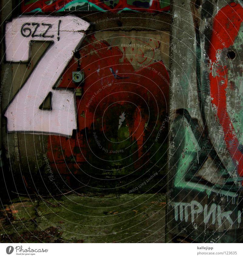 bitte ein zett Buchstaben klecksen Schweinerei Alkoholisiert Wand Beton Zukunft Filmindustrie Absturz stoppen beschmutzen Skandal Funktechnik Sprechgesang Spray