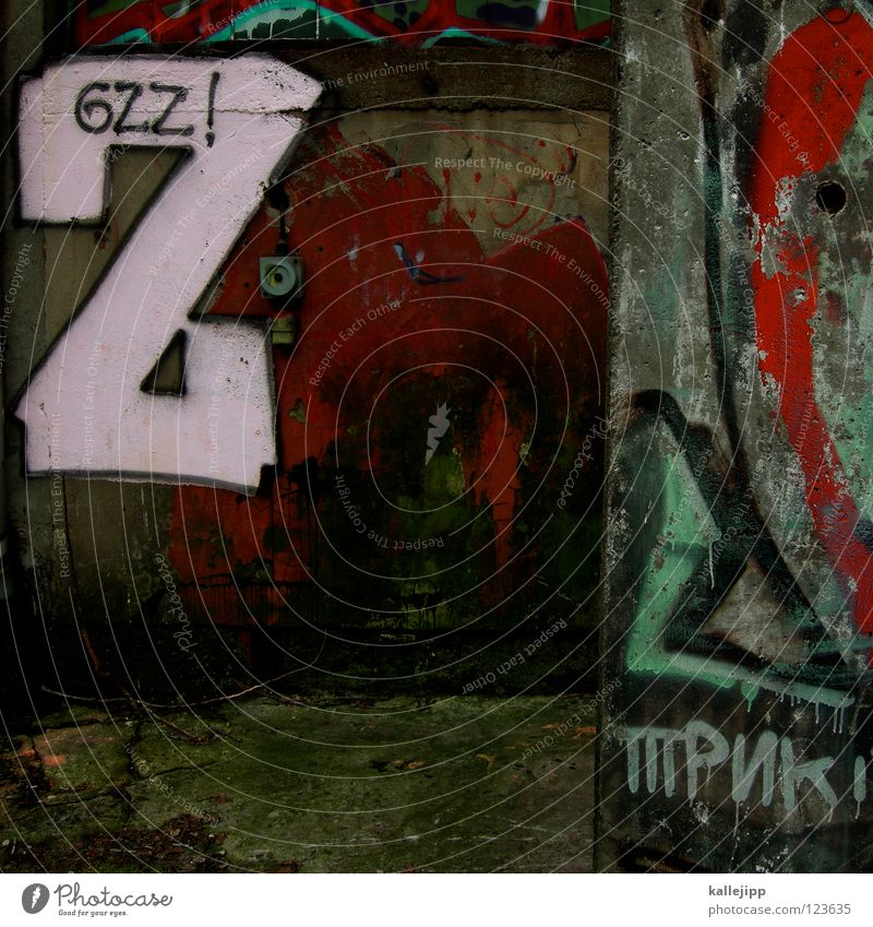 bitte ein zett Farbe Straße Wand Graffiti Mauer Kunst Beton Wassertropfen Klima Zukunft Buchstaben Ende 4 streichen stoppen Filmindustrie