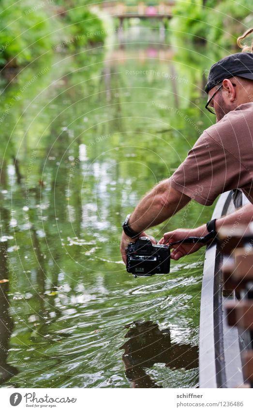 Spreedorado | SpreeJo Mensch maskulin Junger Mann Jugendliche Erwachsene Arme 1 30-45 Jahre Natur Landschaft Pflanze Wasser Baum Sträucher Flussufer festhalten