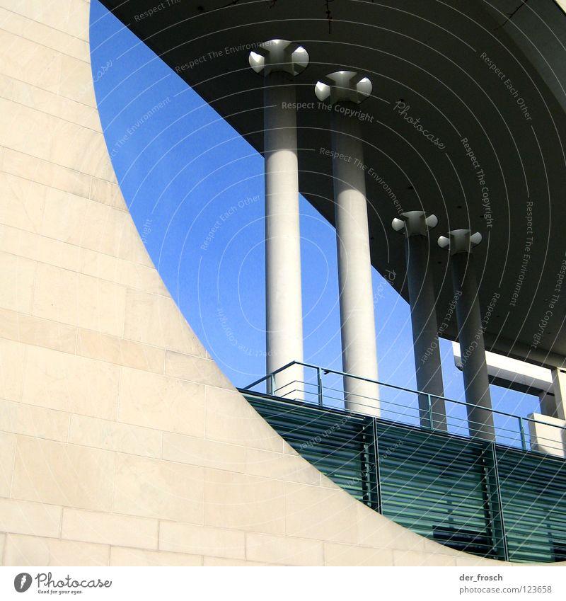 angies waschmaschine Himmel Berlin Gebäude Architektur Beton rund Loch Säule Hauptstadt Spreebogen Bundeskanzler Amt