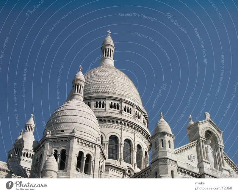 sacre coeur Himmel weiß Religion & Glaube Paris Gotteshäuser Montmartre Sacré-Coeur