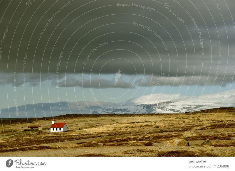 Island Himmel Natur Einsamkeit Landschaft ruhig Wolken Haus Ferne Umwelt klein Stimmung Klima Kirche