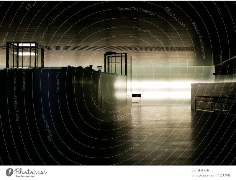 Setz dich und tue nichts Erholung ruhig Architektur Denken sitzen leer Punkt Bank Konzentration Geister u. Gespenster Gedanke üben faulenzen Bedeutung