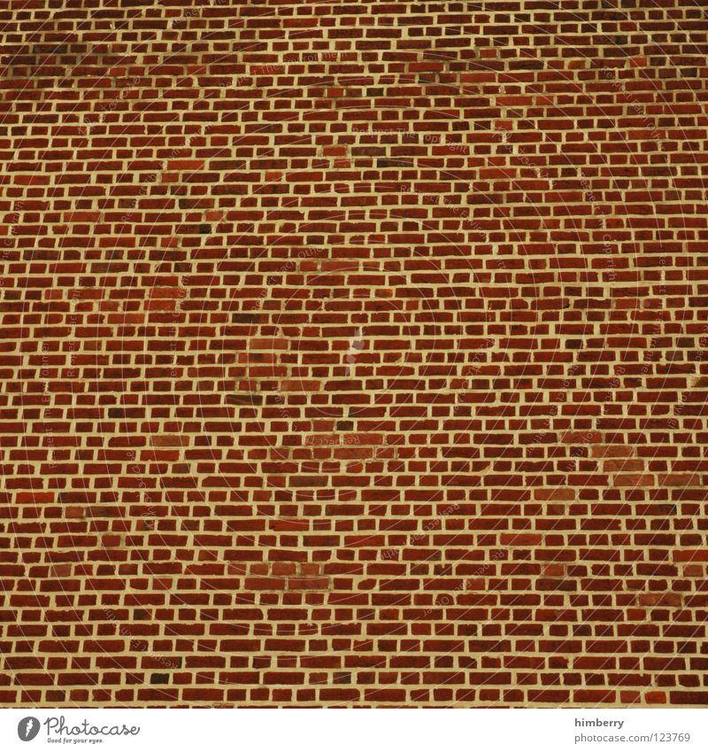 dauermauer Mauer Gebäude Wand Steinwand Backstein Hintergrundbild Bauwerk Haus Handwerk Arbeit & Erwerbstätigkeit Detailaufnahme bauen Linie Strukturen & Formen