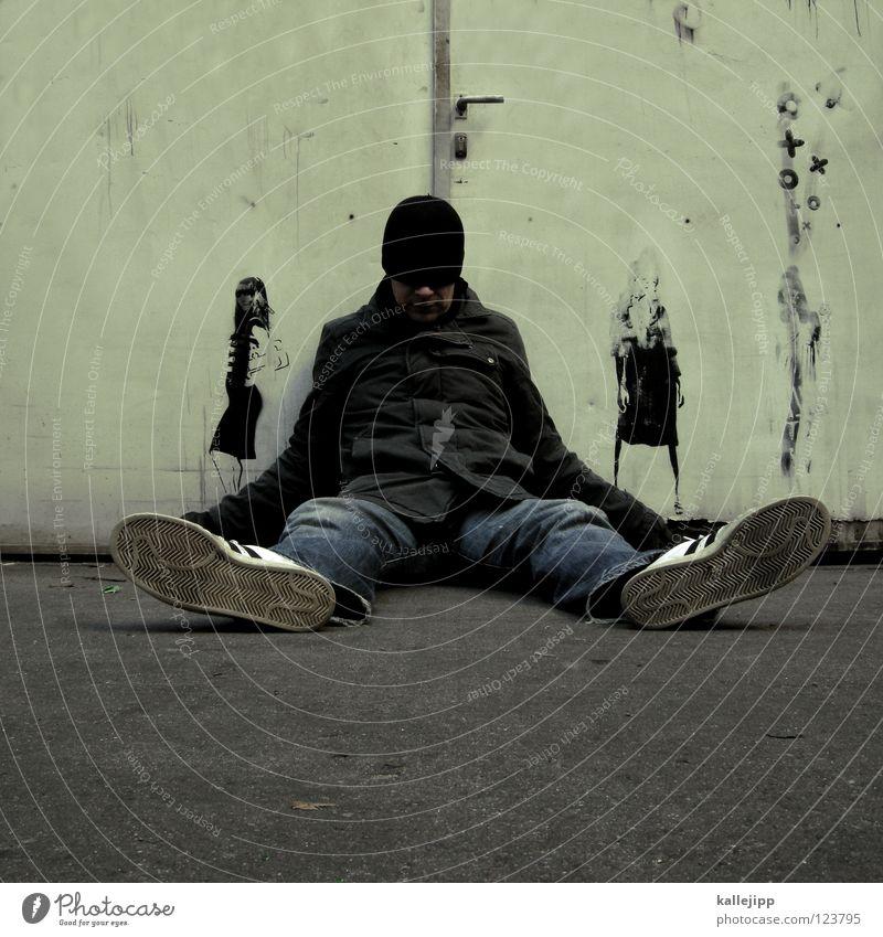 ex Frau Mann Graffiti oben offen Tür geschlossen Ende Vergangenheit Konflikt & Streit falsch Verabredung lügen wirklich Straßenkunst blind