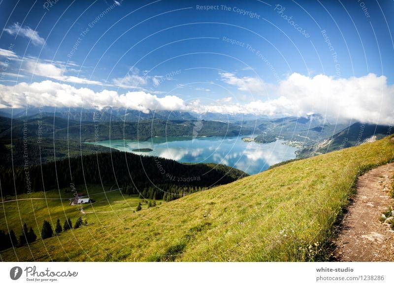 A Room with a View Natur Ferien & Urlaub & Reisen Landschaft Ferne Berge u. Gebirge Wege & Pfade Tourismus See Ausflug wandern Idylle Aussicht Schönes Wetter