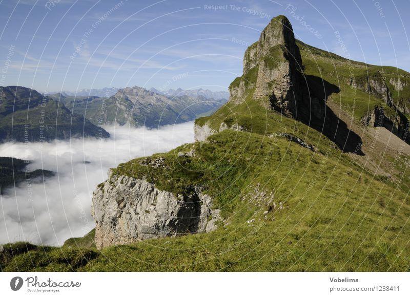Forstberg Tourismus Freiheit Sommer Sommerurlaub Berge u. Gebirge wandern Klettern Bergsteigen Natur Landschaft Wolken Wetter Schönes Wetter Nebel Alpen Gipfel