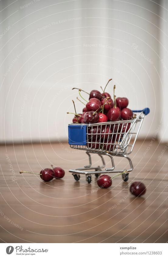 Kirschen 0,99 € Lebensmittel Frucht Ernährung Essen Frühstück Picknick Bioprodukte Vegetarische Ernährung Diät füttern kaufen Supermarkt Angebot Einkaufswagen