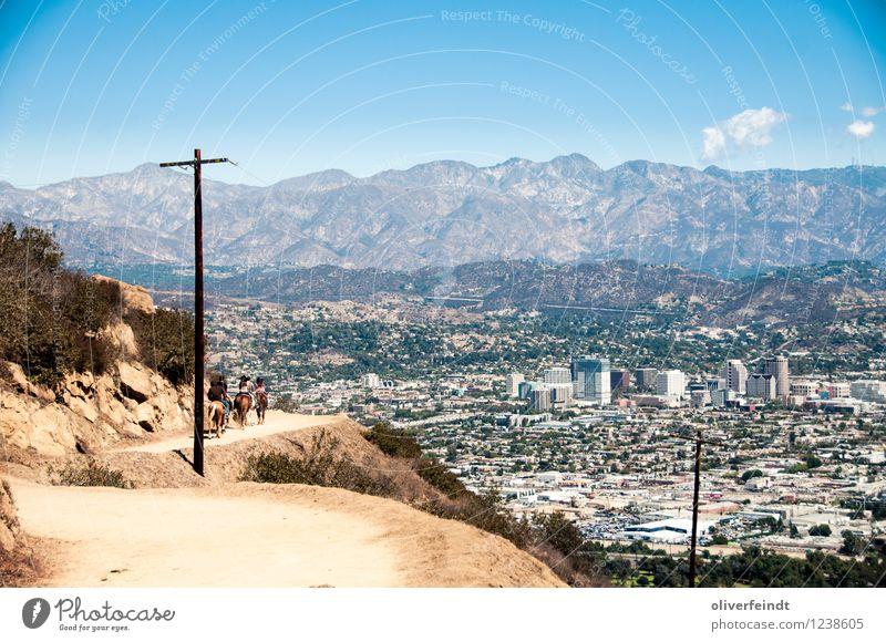 Kalifornien VI Mensch Himmel Natur Ferien & Urlaub & Reisen Sommer Landschaft Ferne Umwelt Berge u. Gebirge Freiheit Menschengruppe Freizeit & Hobby Wetter