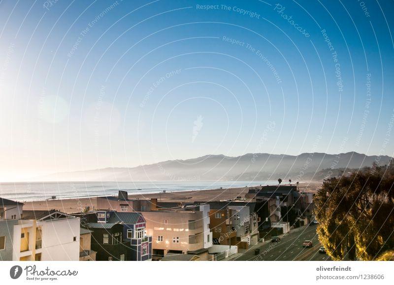 Kalifornien V Himmel Natur Ferien & Urlaub & Reisen Sommer Meer Landschaft Haus Ferne Strand Umwelt Straße Küste Freiheit Horizont Freizeit & Hobby Wetter