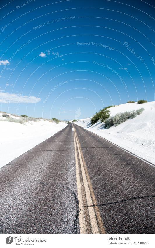 White Sands Ferien & Urlaub & Reisen Ausflug Abenteuer Ferne Sommer Sommerurlaub Umwelt Natur Landschaft Urelemente Erde Himmel Wolkenloser Himmel Horizont