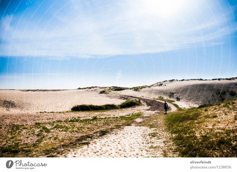Surfen VIII Mensch Himmel Natur Ferien & Urlaub & Reisen Jugendliche Sommer Sonne Erholung Junger Mann Landschaft Ferne Strand 18-30 Jahre Erwachsene Umwelt