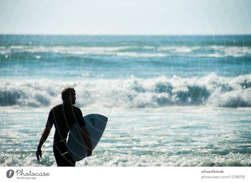 Surfen VII Freizeit & Hobby Ferien & Urlaub & Reisen Tourismus Ausflug Abenteuer Ferne Freiheit Sommer Sommerurlaub Strand Meer Wellen Sport Surfbrett maskulin