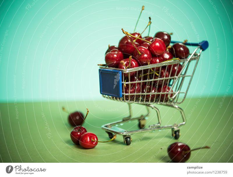 Zeit der Kirschen Lebensmittel Frucht Ernährung Büffet Brunch Picknick Bioprodukte Vegetarische Ernährung Diät Gesundheit Wellness füttern genießen saftig sauer