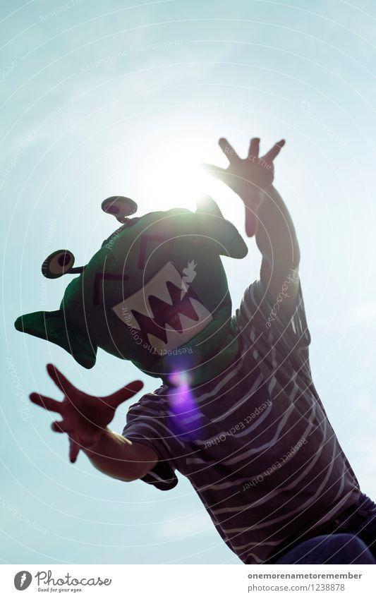 angriffslustig Hand Freude Kunst ästhetisch gefährlich bedrohlich Maske fangen Kunstwerk Kostüm greifen Karnevalskostüm Monster spaßig Spaßvogel Außerirdischer