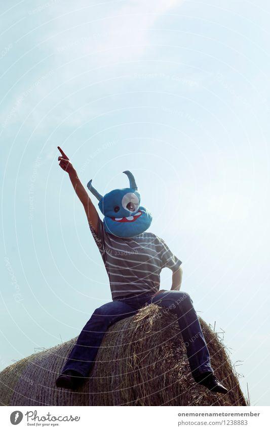 Nach Hause blau Lifestyle Design Freizeit & Hobby elegant ästhetisch hoch zeigen Maske exotisch Blauer Himmel Karnevalskostüm vorwärts Hochmut Monster Außerirdischer
