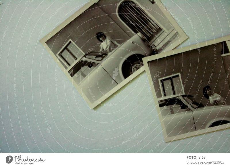 Go Trabbi, go! Haare & Frisuren Haus Frau Erwachsene Jugendliche Fenster PKW T-Shirt Gefühle Lebensfreude Begeisterung Achtziger Jahre früher Fotografie 2 Ossis