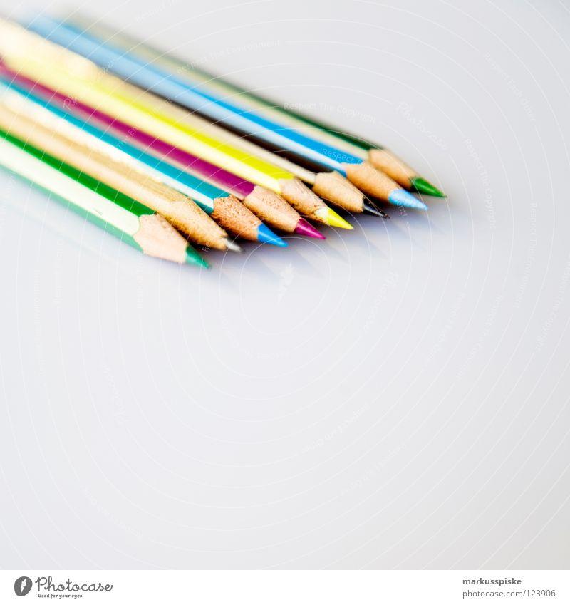 welche farbe nimm ich heute? weiß Farbe 3 lernen mehrere Schriftzeichen Hinweisschild Spitze streichen schreiben Sitzung Kreativität Schreibtisch zeichnen Typographie Schreibstift