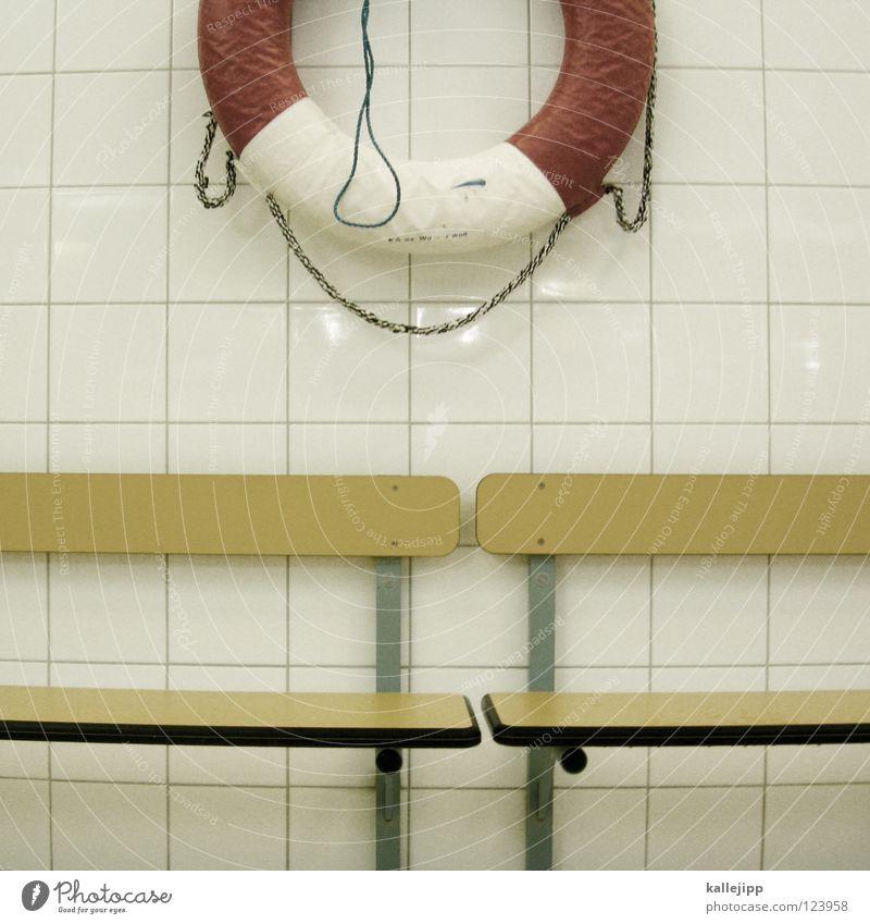 schwipp Wasser weiß rot Freude Tier gelb Luft Hilfsbereitschaft Kreis Sicherheit Bad Fluss Schwimmbad Bank Freizeit & Hobby