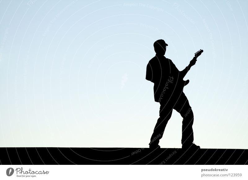 Frank - playing my favorite tune again Mann Gitarre spielen musizieren Musik Bühne Lied zielstrebig Gitarrenspieler rockig Freizeit & Hobby Show Konzert man