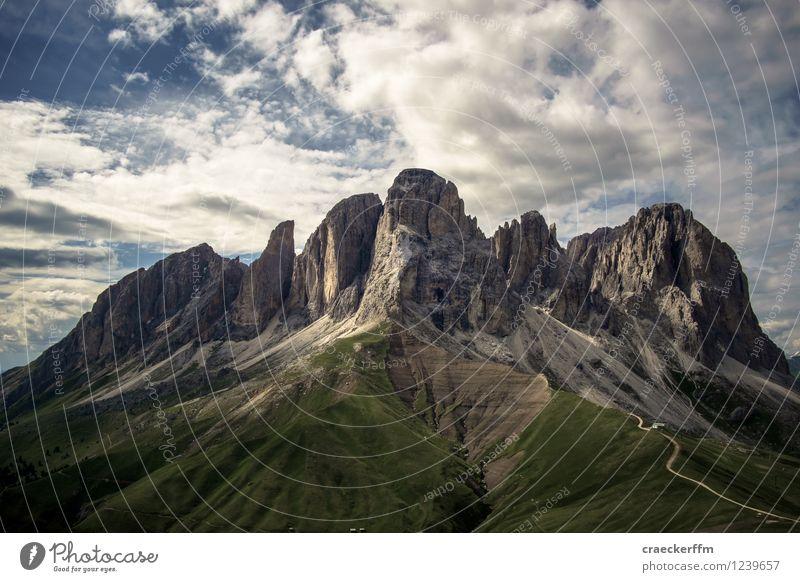 Dolomiten I Erholung Meditation Kur Ferien & Urlaub & Reisen Tourismus Berge u. Gebirge wandern Klettern Bergsteigen Natur Landschaft Wolken Sommer