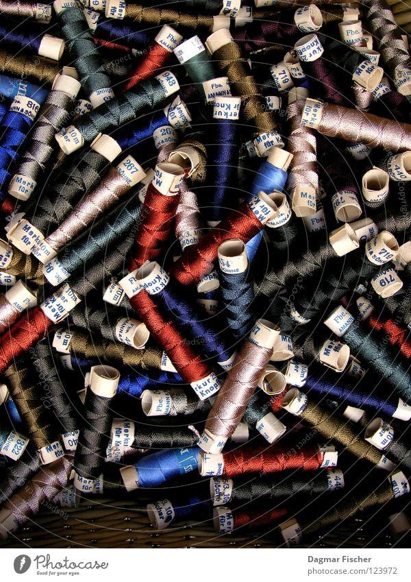 Seemannsgarn blau rot Farbe grau braun Zusammensein Ordnung Freizeit & Hobby Stoff Handwerk harmonisch durcheinander Rolle Nähgarn beige