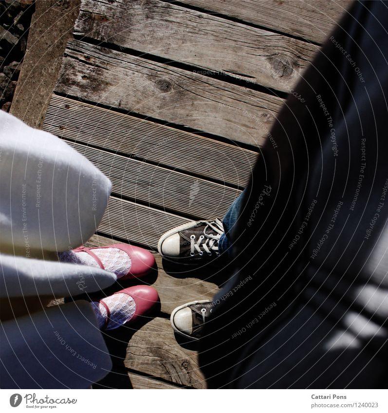 1.2.3.4 YOU and ME? maskulin feminin Freundschaft Paar Partner Leben Mensch Jeanshose Kleid Stoff Lack Schuhe Ballettschuhe einzigartig natürlich rosa schwarz