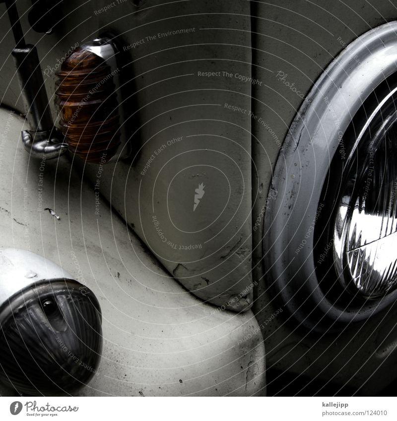 zerbeult und verbogen und vielleicht nicht ganz dicht Geländewagen Lampe Licht Tankdeckel Oldtimer Getriebe Schlamm Ferien & Urlaub & Reisen Motor Diesel