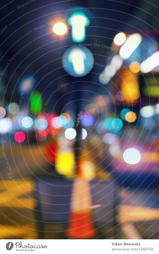Ferien & Urlaub & Reisen Stadt Farbe Leben Straße Bewegung Gebäude PKW Verkehr Technik & Technologie Geschwindigkeit erleuchten Stadtzentrum Abenddämmerung