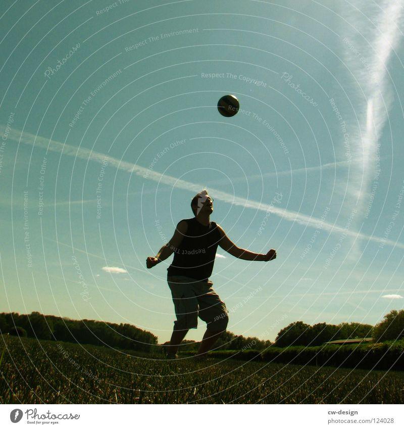 DROP IT LIKE IT'S HOT Fußballer Weltmeisterschaft Erfolg Verlierer Champions League Wiese Feld Sommer heiß Physik Blume weiß grün saftig Wolken
